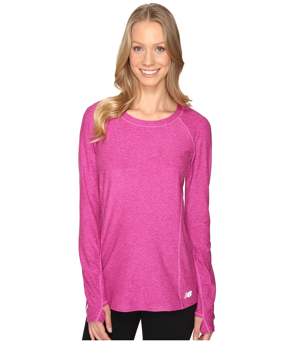 New Balance - In Transit Long Sleeve Top (Fusion Heather) Women's Long Sleeve Pullover