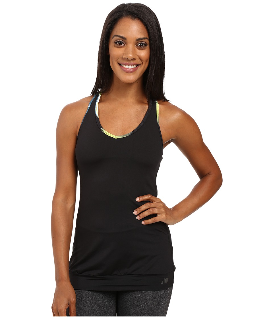 New Balance - In Transit Bra Top (Black/Urban Floral Print) Women's Bra