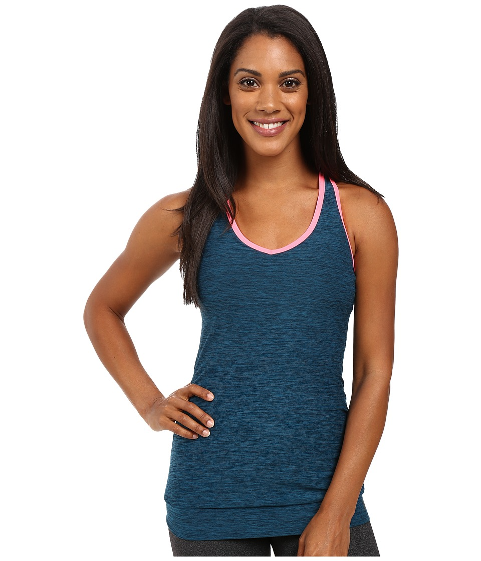New Balance - In Transit Bra Top (Castaway Heather/Guava) Women's Bra