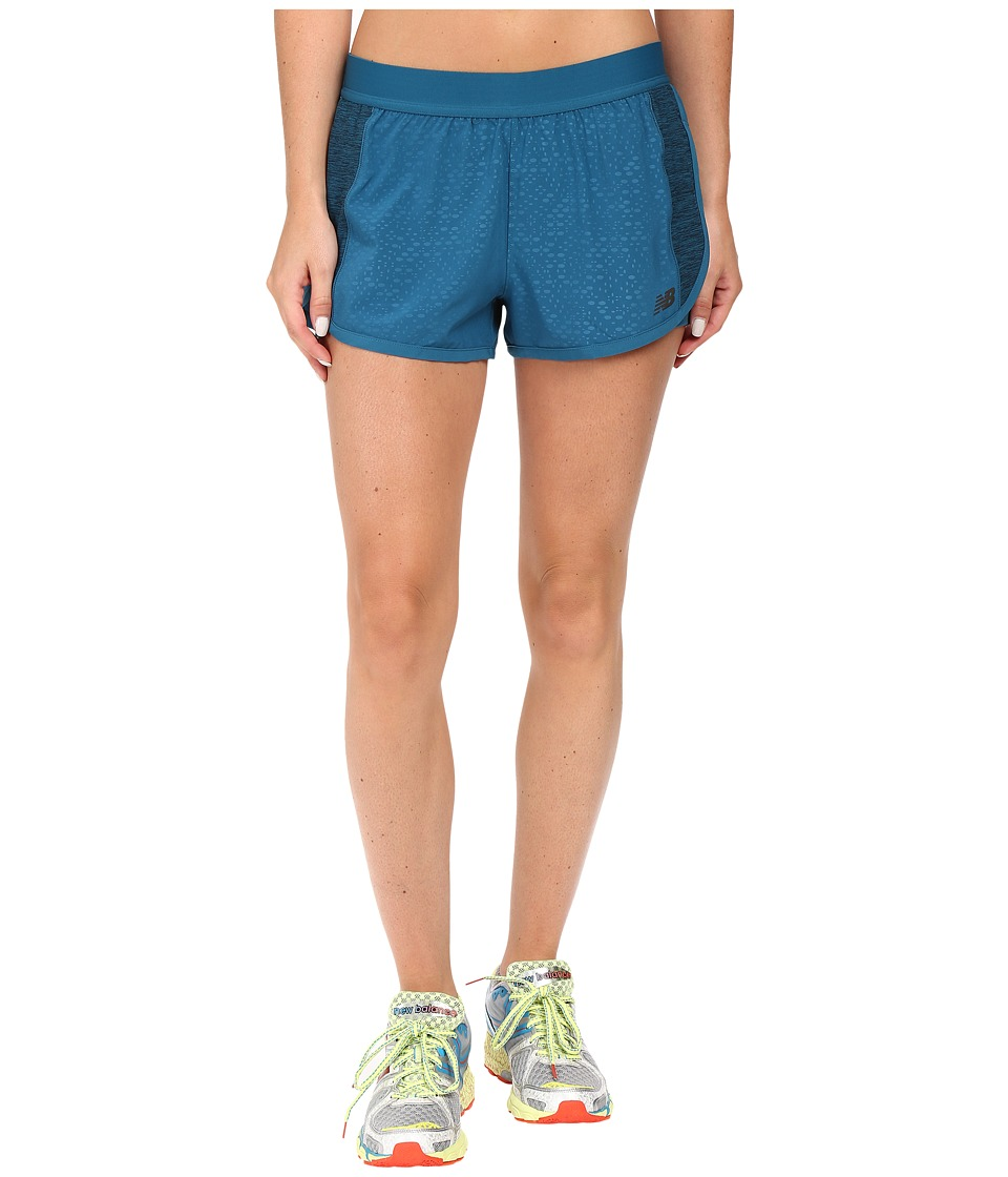 New Balance - Mixed Media Shorts (Castaway) Women's Shorts