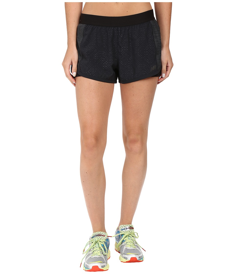 New Balance - Mixed Media Shorts (Black) Women's Shorts