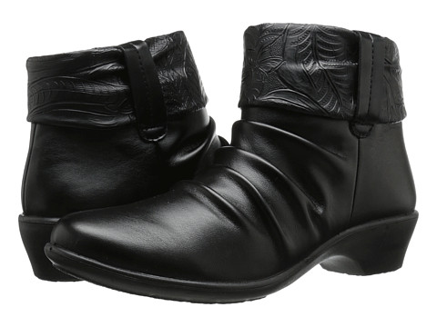 Easy Street - Yvonne (Black/Tooled Collar) Women's Pull-on Boots
