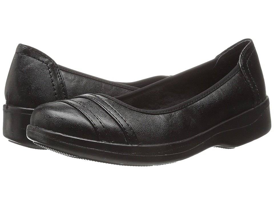 Easy Street - Measure (Black Stretch) Women's Flat Shoes