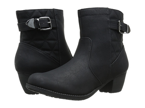 Easy Street - Crosby (Black/Black Quilted) Women's Pull-on Boots