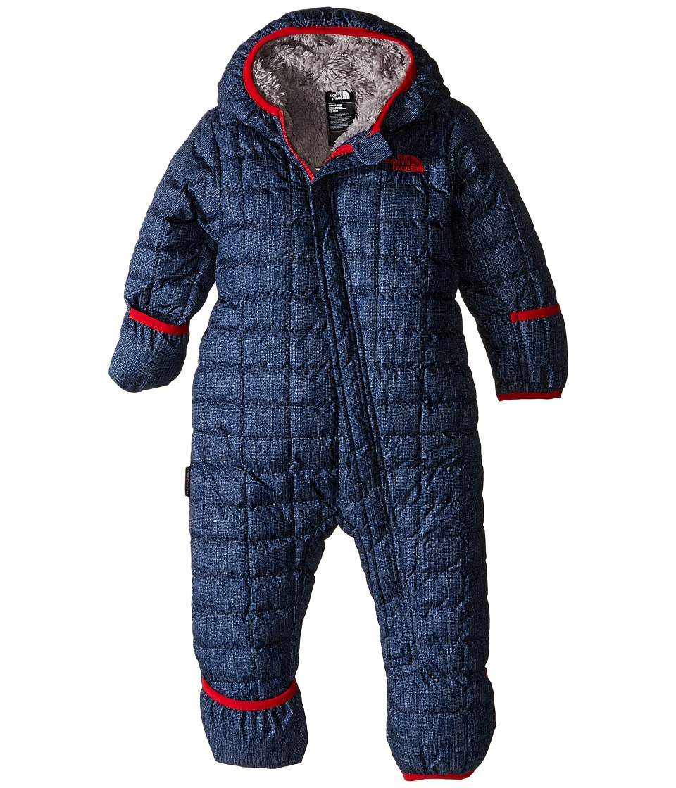 The North Face Kids - ThermoBalltm Bunting (Infant) (Cosmic Blue Denim Print) Kid's Jumpsuit & Rompers One Piece