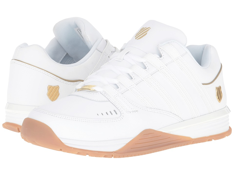 K-Swiss - Baxter (White/Gold/Gum) Men's Shoes