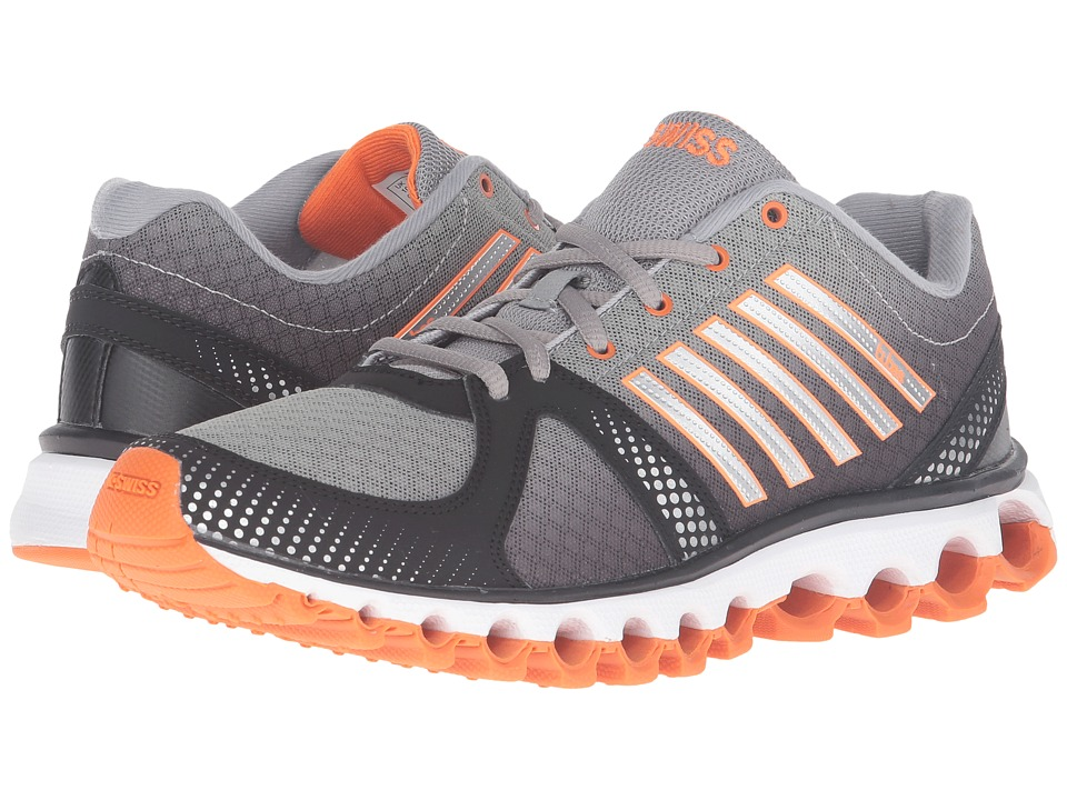 K-Swiss - X-160 CMF (Neutral Gray/Black/Vibrant Orange) Men's Lace up casual Shoes