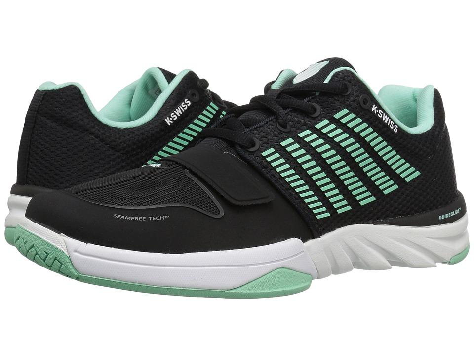 K-Swiss - X Court (Black/Cabbage/White) Women's Tennis Shoes