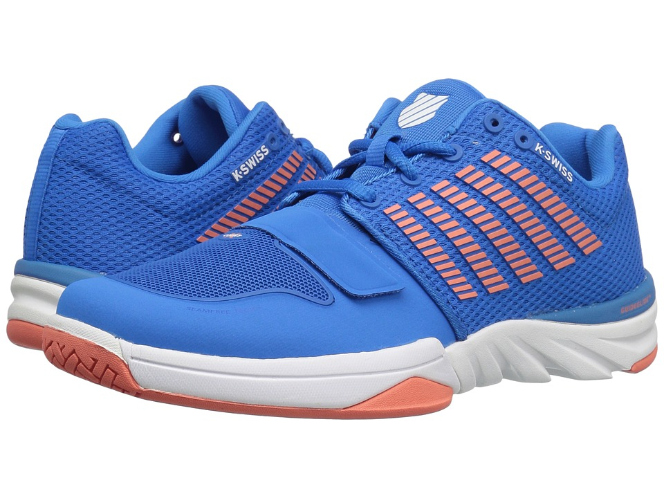 K-Swiss - X Court (Brilliant Blue/Living Coral/White) Women's Tennis Shoes