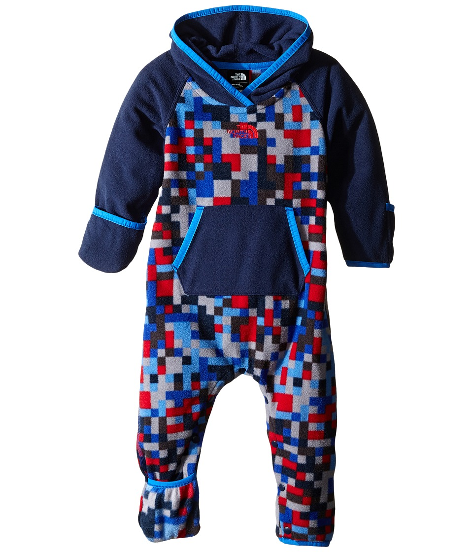 The North Face Kids - Glacier One-Piece (Infant) (Jake Blue Pixel Print) Kid's Jumpsuit & Rompers One Piece