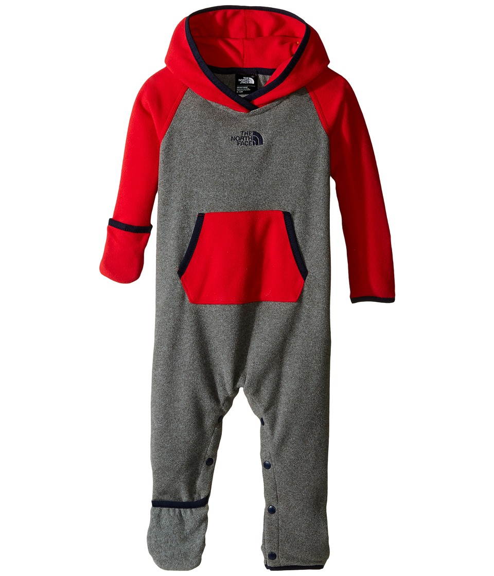 The North Face Kids - Glacier One-Piece (Infant) (TNF Medium Grey Heather) Kid's Jumpsuit & Rompers One Piece