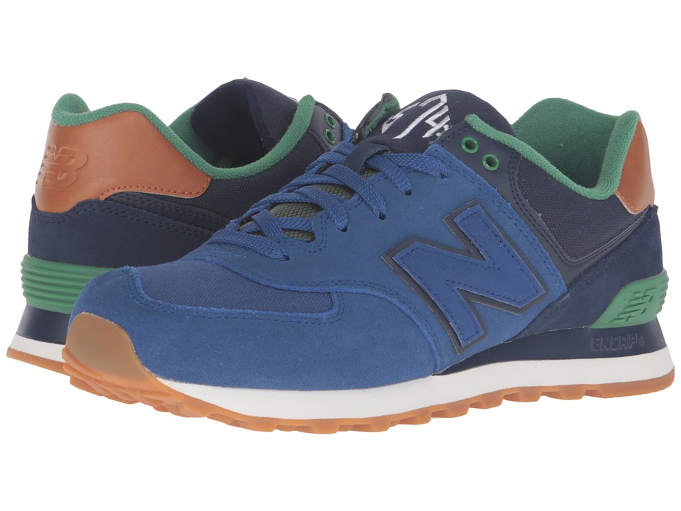 New Balance Classics - ML574 - New England (Blue/Navy) Men's Running Shoes