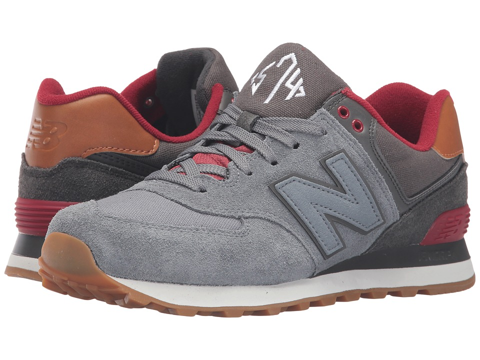 New Balance - ML574 - New England (Gunmetal/Raven) Men's Running Shoes