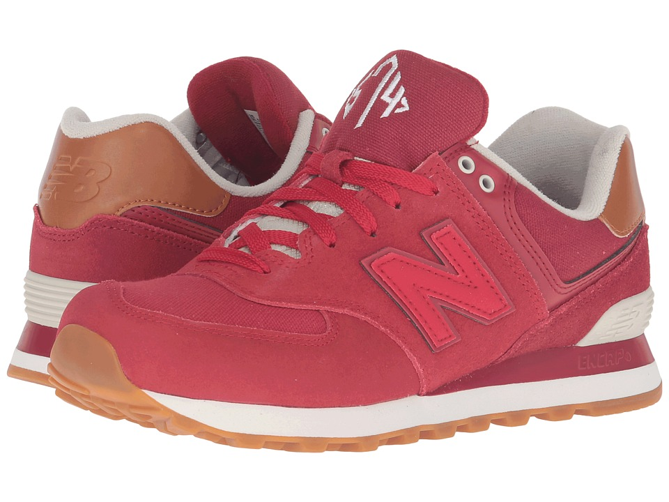 New Balance - ML574 - New England (Crimson/Red) Men's Running Shoes