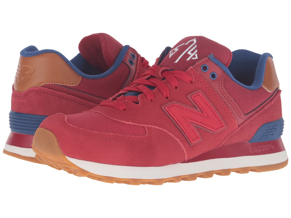 New Balance - WL574 - New England (Crimson/Red) Women's Running Shoes