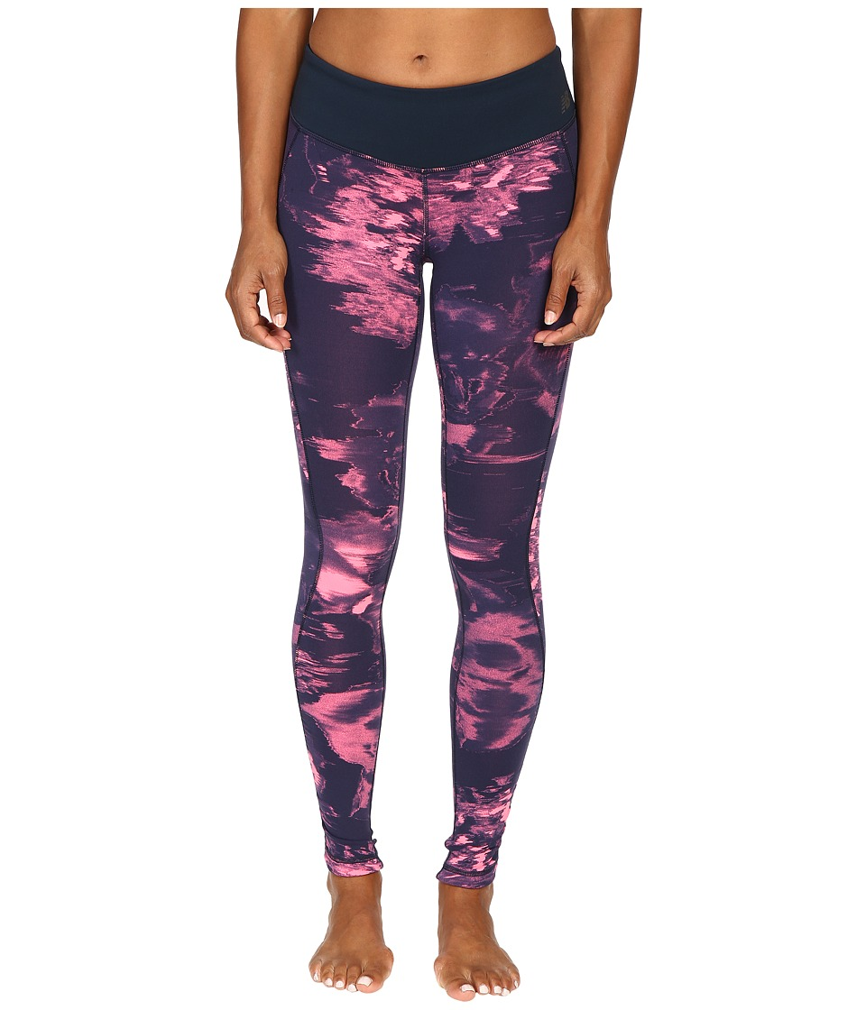 New Balance - Premium Performance Tight Print Pants (Guava Urban Floral Print) Women's Casual Pants