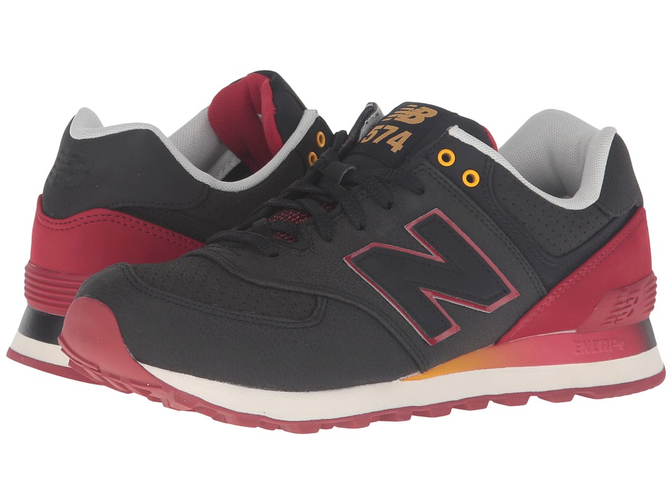 New Balance Classics - ML574Bv1 - Radiant (Black/Red) Men's Running Shoes