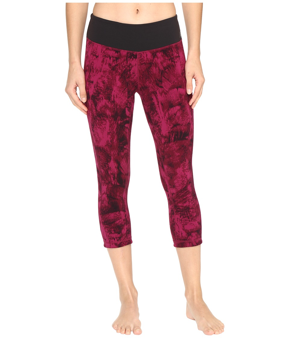 New Balance - Premium Performance Capri Print Pants (Jewel Feather Camo) Women's Capri