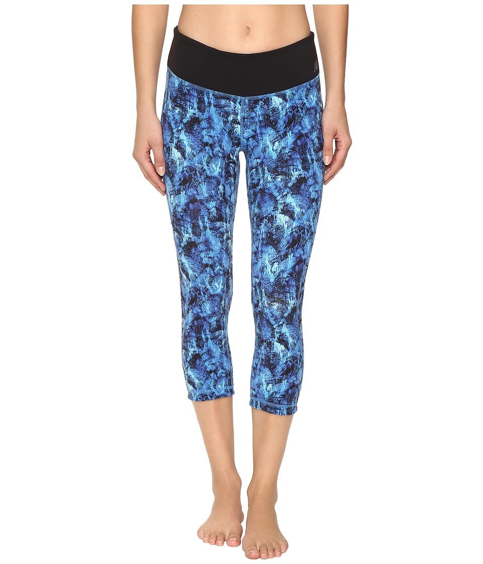 New Balance - Premium Performance Capri Print Pants (Majestic Feather Camo) Women's Capri