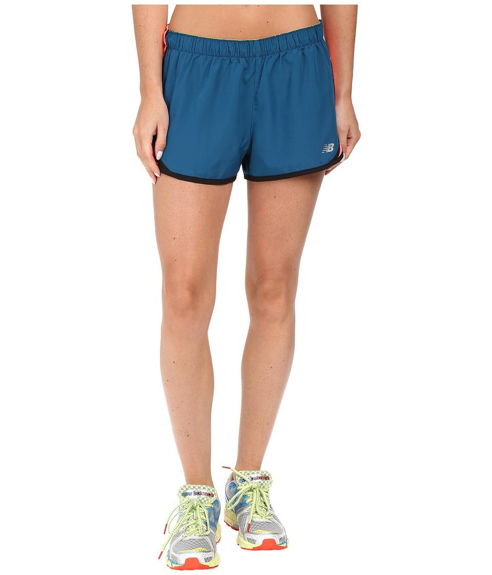 New Balance - Accelerate 2.5 Short (Castaway/Guava) Women's Shorts
