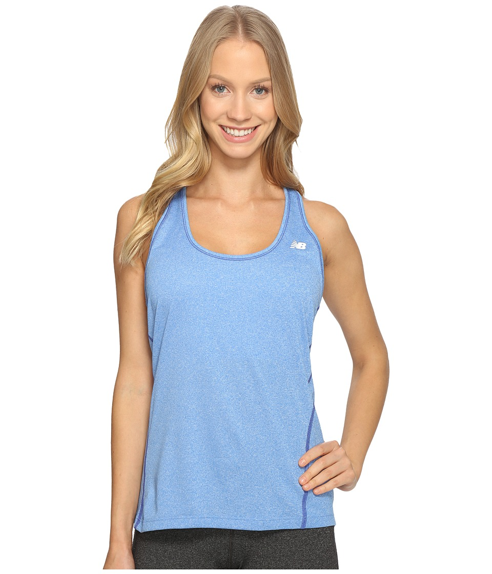 New Balance - Heathered Jersey Tank Top (Majestic Blue Heather) Women's Sleeveless