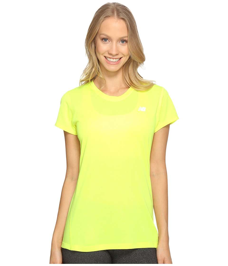 New Balance - Heathered Short Sleeve Tee (Firefly Heather) Women's Short Sleeve Pullover