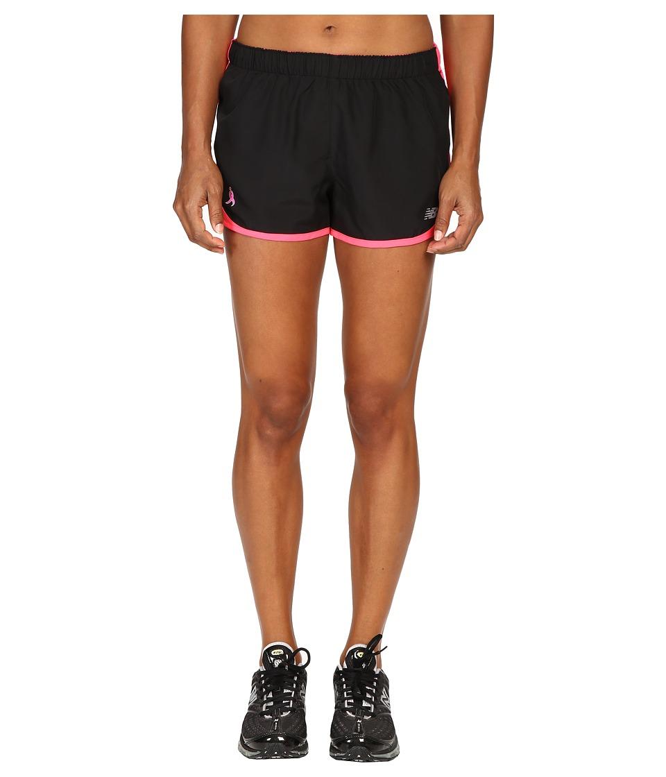 New Balance - LU Accelerate 2.5 Shorts (Black/Alpha Pink) Women's Shorts