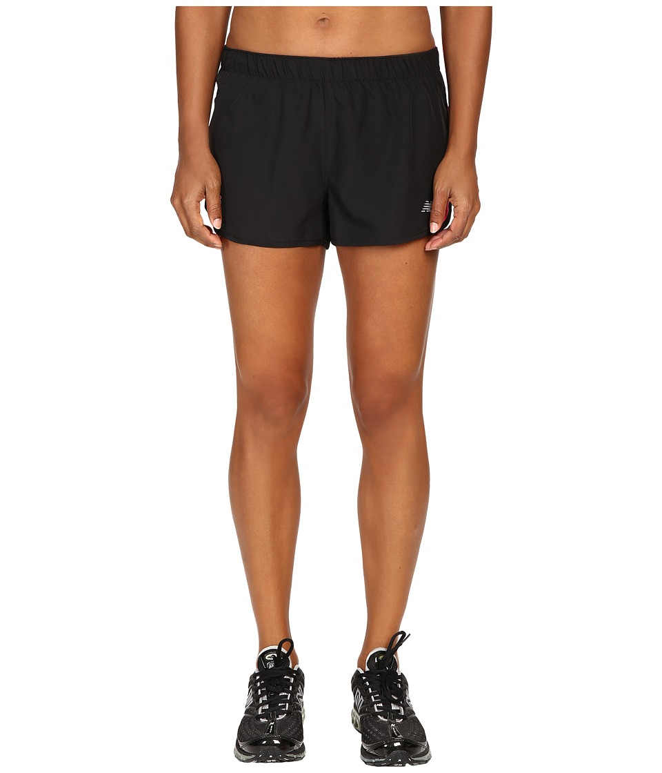 New Balance - LU Accelerate 2.5 Shorts (Black) Women's Shorts