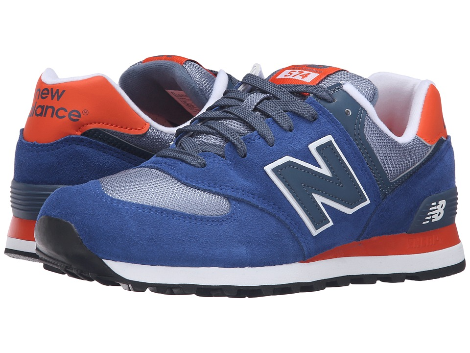 New Balance Classics - ML574 (Navy/Red 1) Men's Shoes