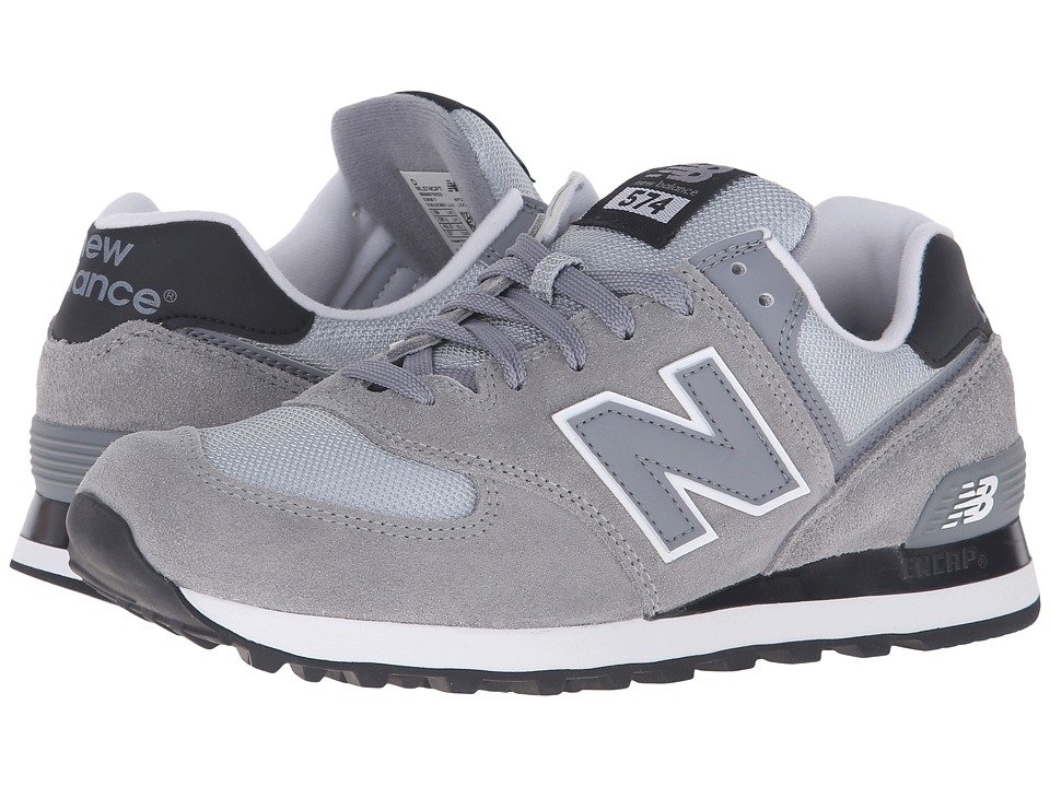 New Balance Classics - ML574 (Steel/Black) Men's Shoes