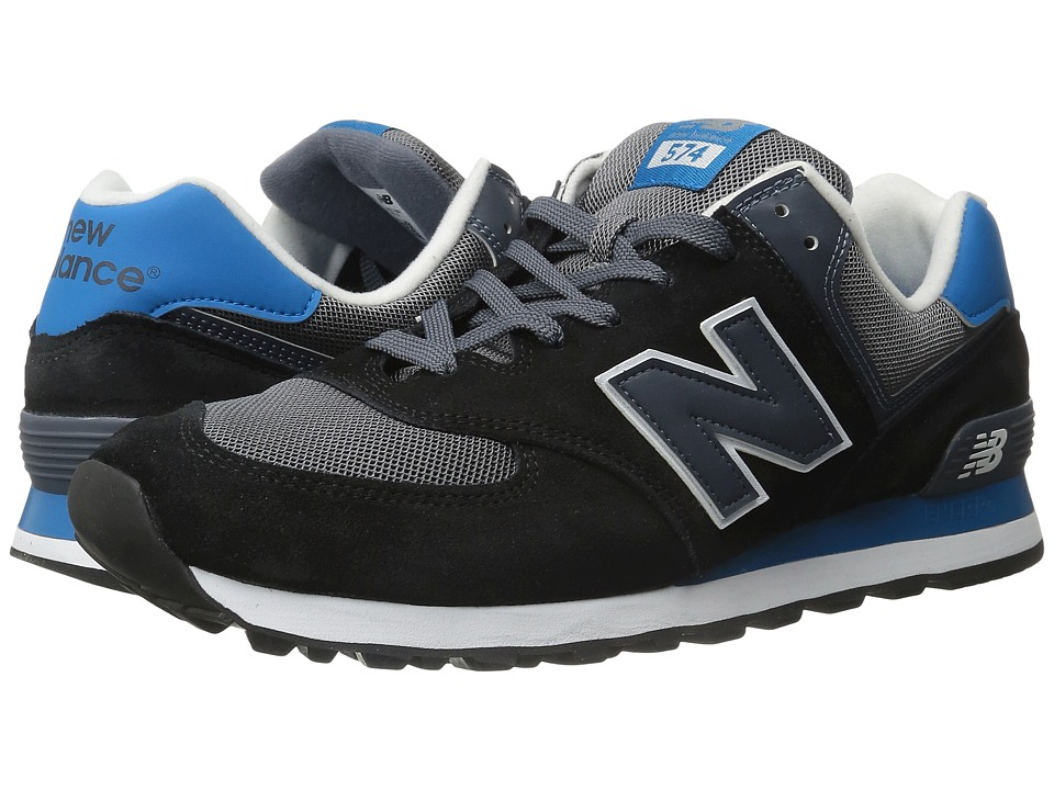 New Balance Classics - ML574 (Black/Grey 1) Men's Shoes