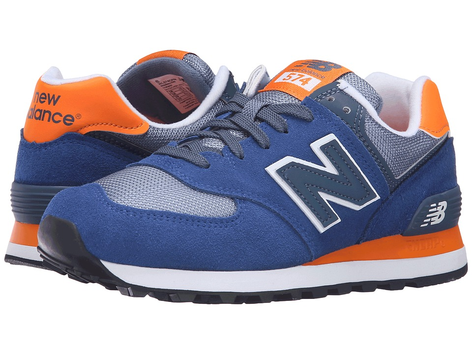 New Balance Classics - WL574 - Core Plus Collection (Navy/Orange) Women's Classic Shoes