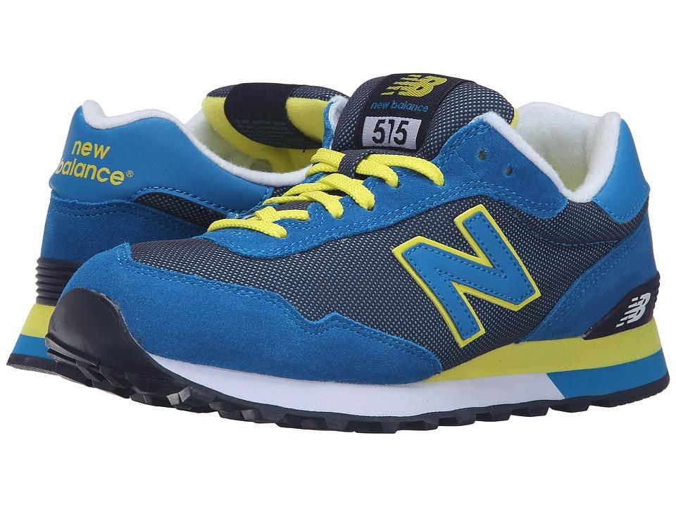 New Balance Classics - WL515 (Blue/Yellow) Women's Classic Shoes