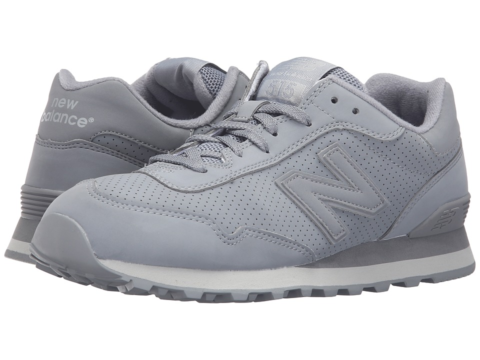 Mens New Balance Classics ML515 Suede Grey Classic Shoes Z90299