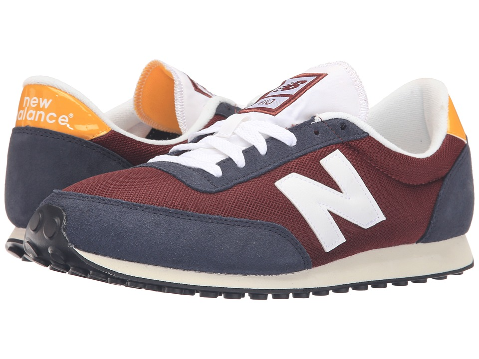 New Balance Classics - U410v1 - 70s Running (Burgundy/Grey) Men's Running Shoes