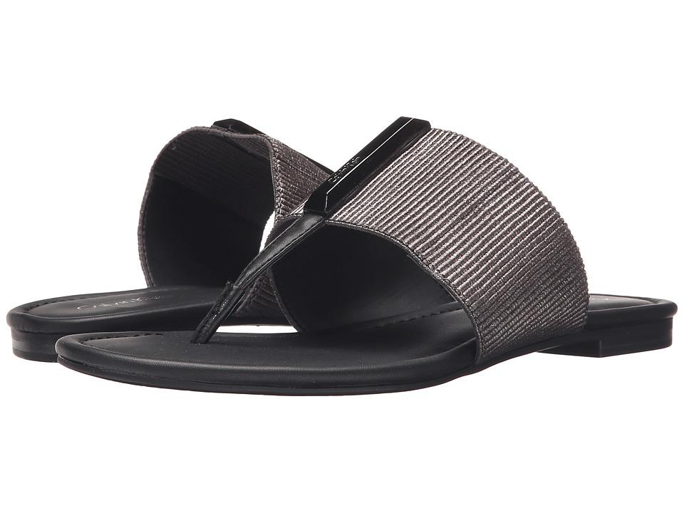 Calvin Klein - Bonni (Anthracite/Black Elastic/Leather) Women