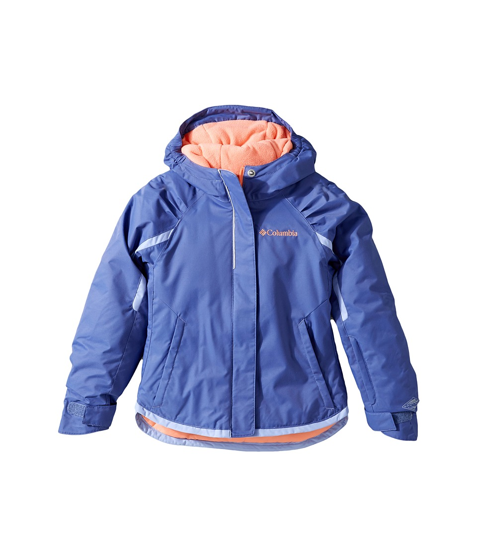 Columbia Kids - Alpine Action Jacket (Little Kids/Big Kids) (Bluebell/Empress/Hot Coral) Girl's Coat