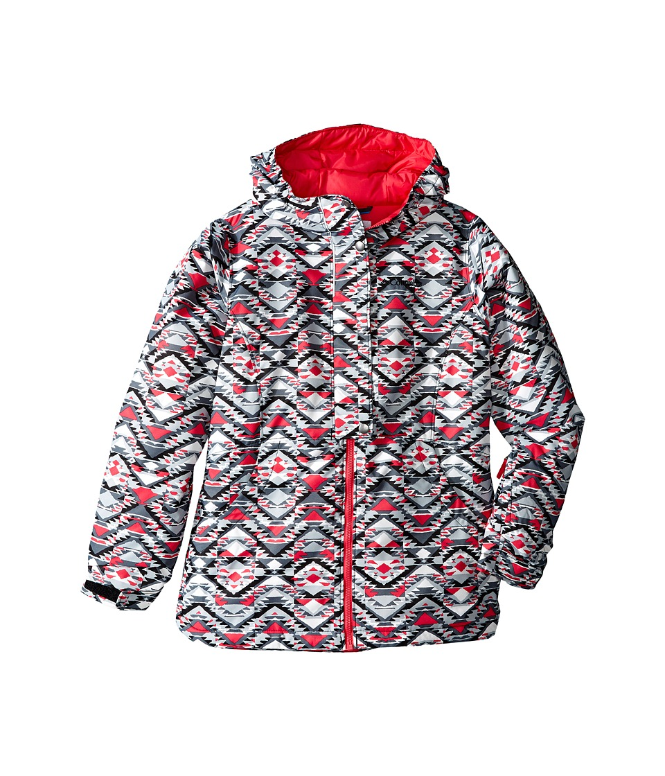 Columbia Kids - Snowcation Nation Jacket (Little Kids/Big Kids) (Black Southwestern Print/Punch Pink) Girl's Coat