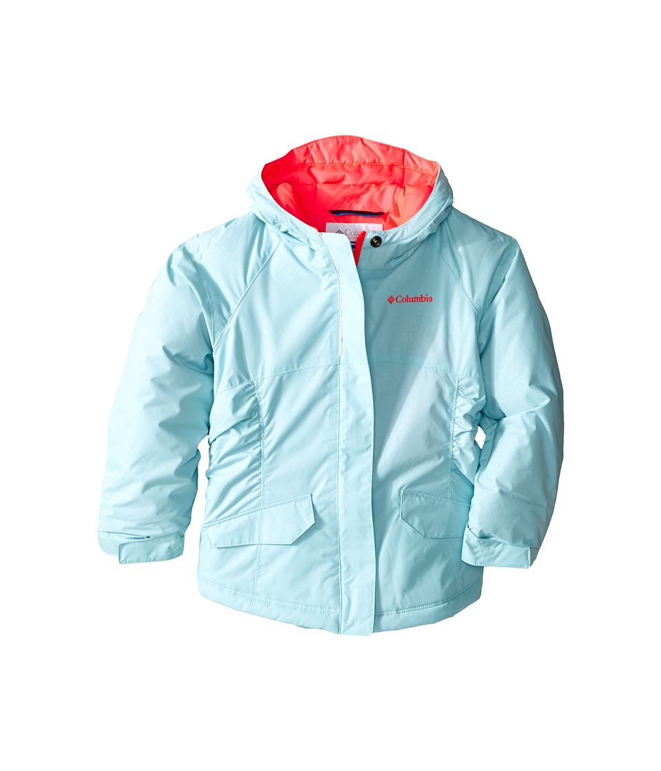 Columbia Kids - Razzmadazzle Jacket (Little Kids/Big Kids) (Spray Emboss/Laser Red) Girl's Coat