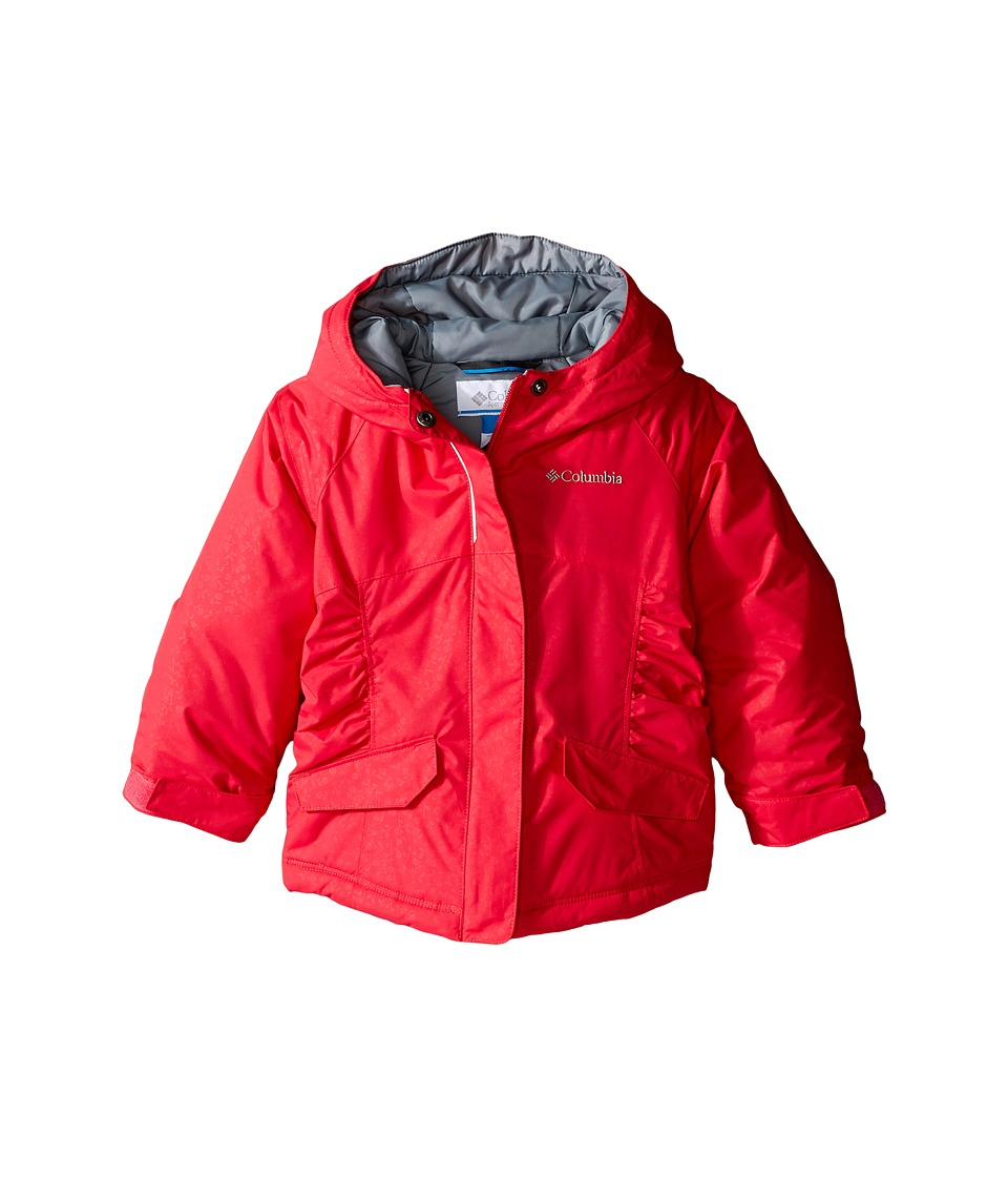 Columbia Kids - Razzmadazzle Jacket (Little Kids/Big Kids) (Punch Pink Emboss/Grey Ash) Girl's Coat