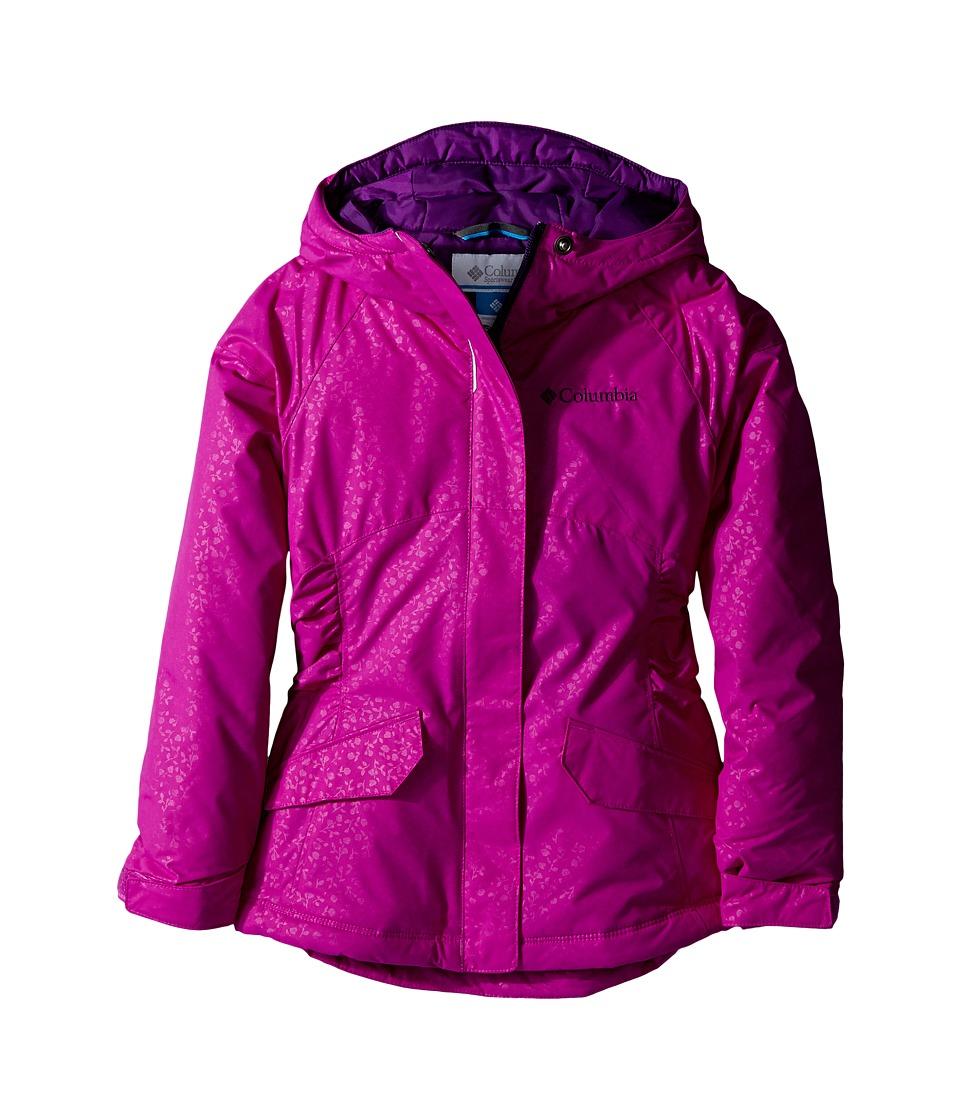 Columbia Kids - Razzmadazzle Jacket (Little Kids/Big Kids) (Bright Plum Emboss/Iris Glow) Girl's Coat
