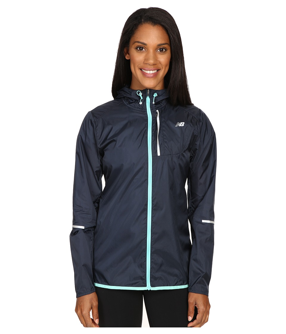 New Balance - Lite Packable Jacket (Galaxy/Aquarius) Women's Coat