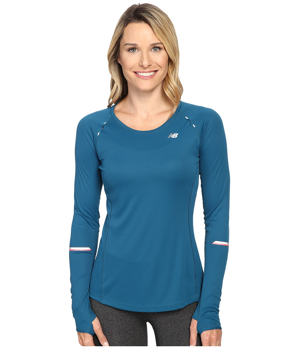 New Balance - NB Ice Long Sleeve Shirt (Castaway) Women's Long Sleeve Pullover