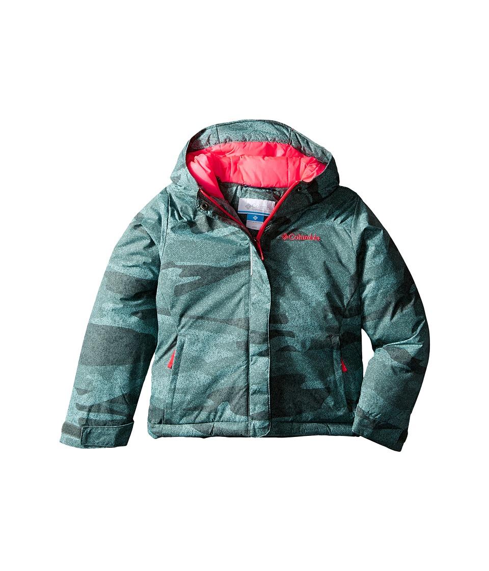 Columbia Kids Horizon Ridetm Jacket (Little Kids/Big Kids) (Pond Camo/Laser Red) Girl