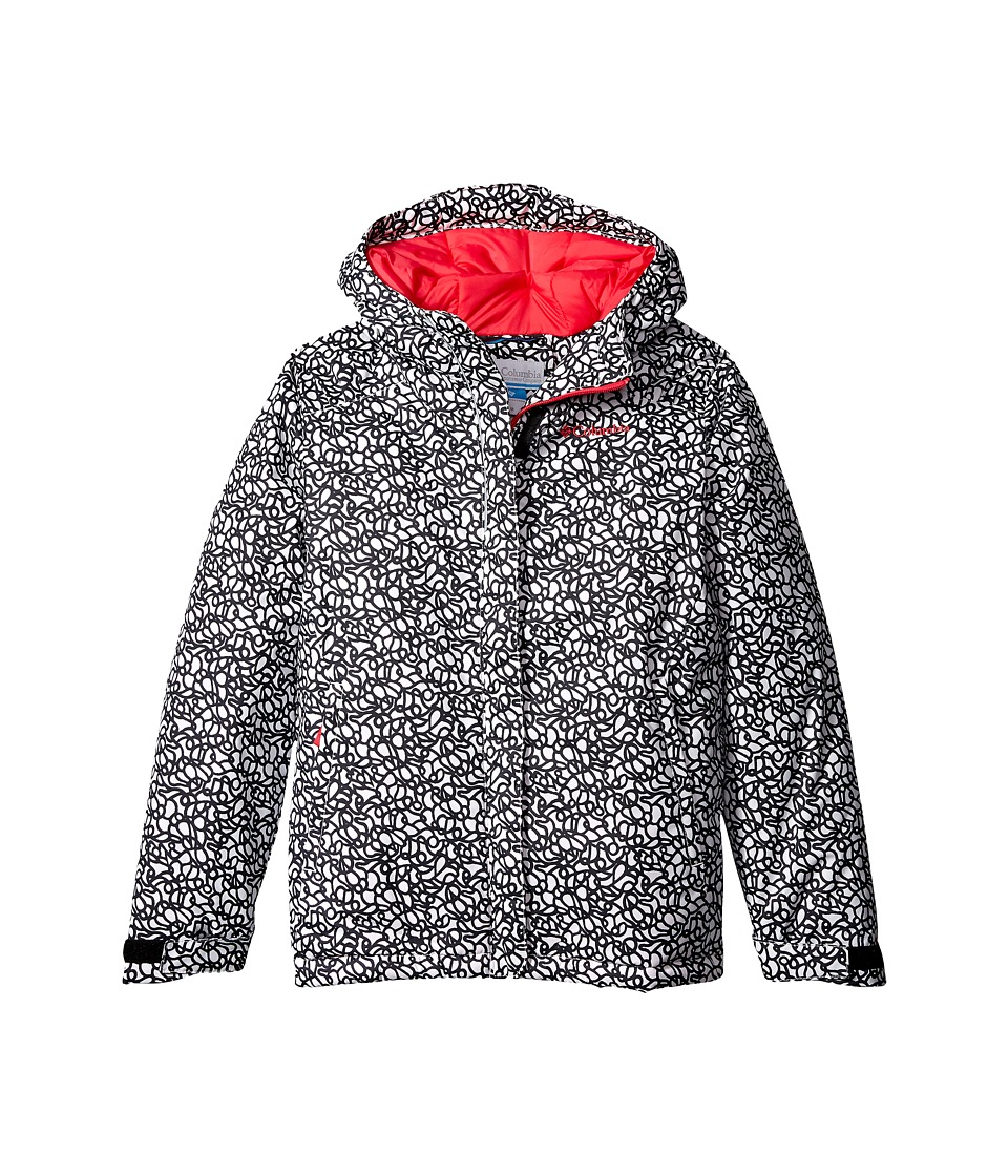Columbia Kids - Horizon Ride Jacket (Little Kids/Big Kids) (White Squiggles/Punch Pink) Girl's Coat