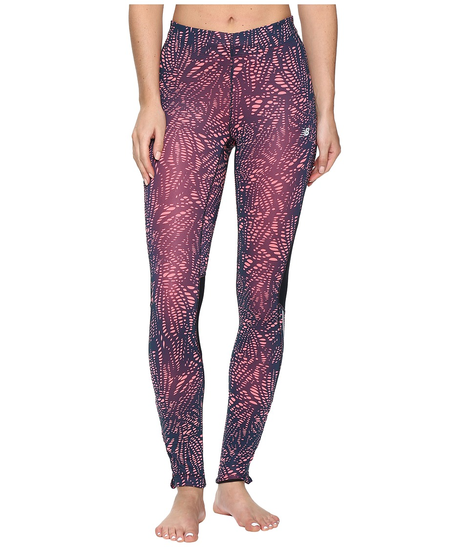 New Balance - Impact Tights Print (Guava Print/Galaxy) Women's Casual Pants