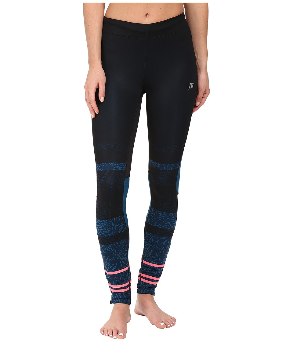New Balance - Impact Premium Printed Tights (Castaway Multi/Guava) Women's Casual Pants