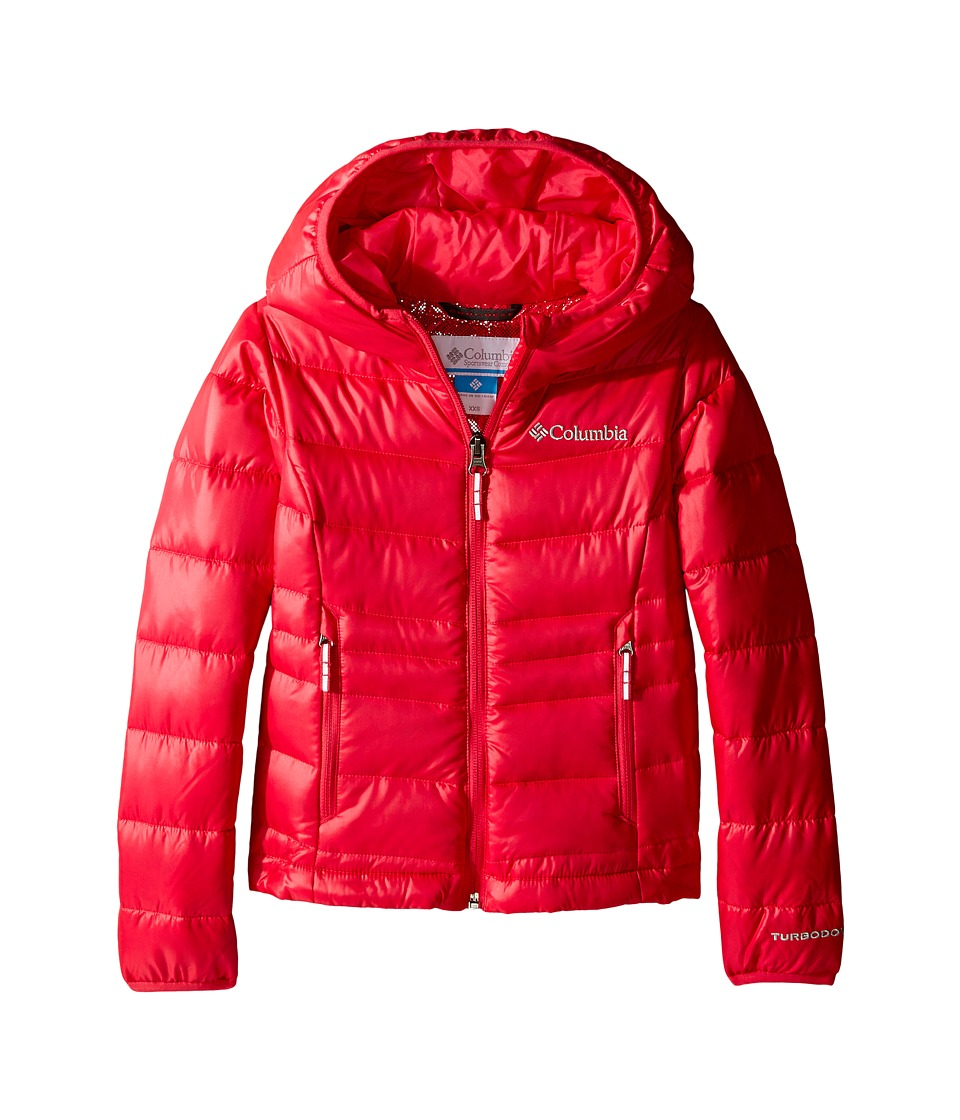 Columbia Kids - Gold 550 TurboDown Hooded Down Jacket (Little Kids/Big Kids) (Punch Pink) Girl's Coat
