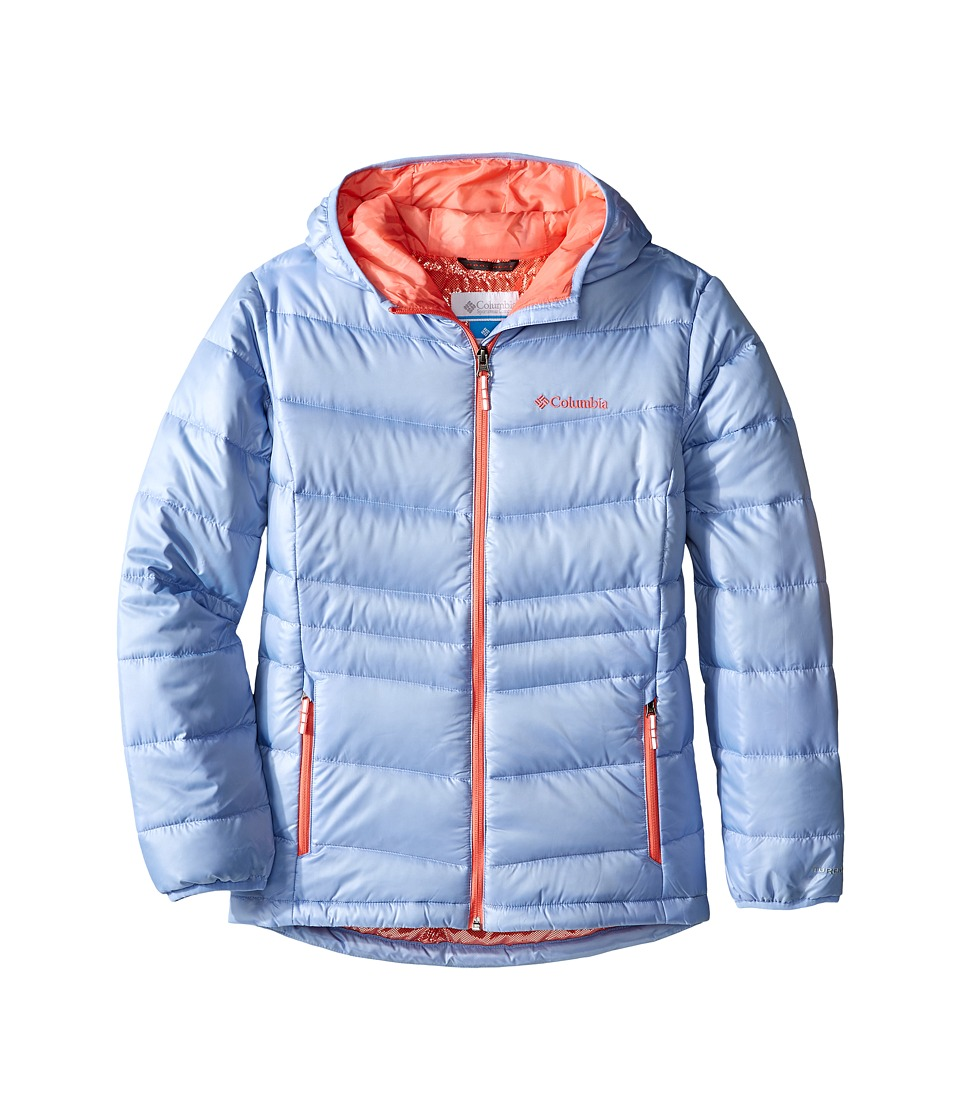 Columbia Kids - Gold 550 TurboDown Hooded Down Jacket (Little Kids/Big Kids) (Empress/Hot Coral) Girl's Coat