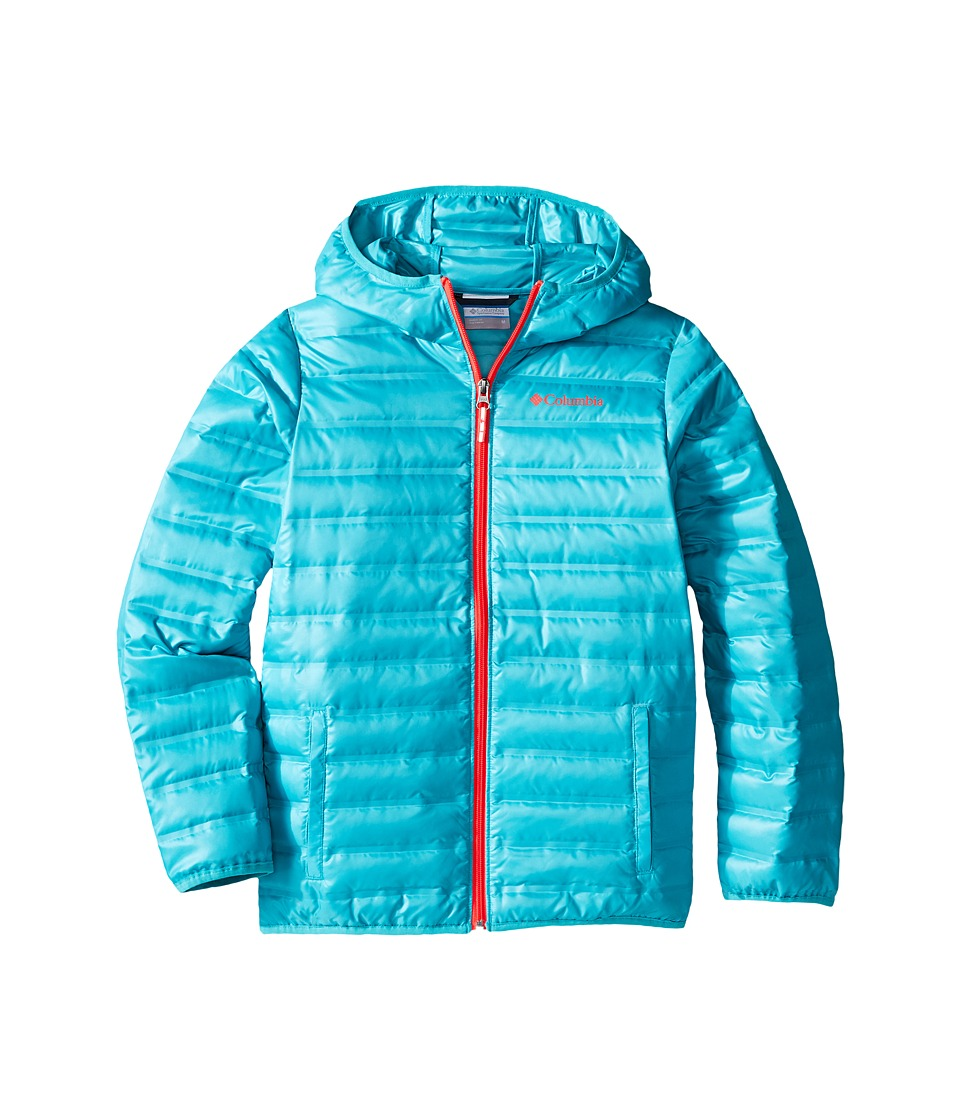 Columbia Kids - Flash Forward Hooded Down Jacket (Little Kids/Big Kids) (Miami/Laser Red) Girl's Coat
